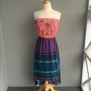 Flying Tomato Embroidery Hi Low Dress Size M